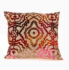 Baroque Pillow in Magenta design by Baxter Designs