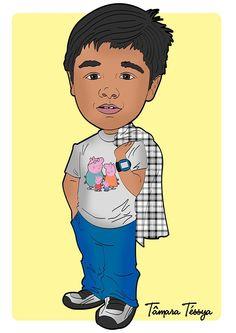 Caricatura Cartunizada de Bruninho filho de minhas amigas Nadja e Márcia!