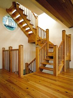 Interior stair railing provided by vanderhoff construction - Interior stair railing contractors ...