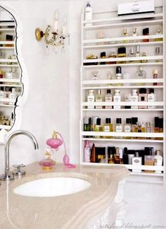 Apartment Bathroom Organization Makeup Storage – When there are lots of bathroom storage options available on the current market, you have to be certain they fit the decor and match the space to prevent clutter and messiness. Makeup Storage Small Bathroom, Bathroom Sink Organization, Bathroom Shelves Over Toilet, Small Storage, Storage Ideas, Makeup Organization, Bathroom Ideas, Storage Organization, Bathroom Wall