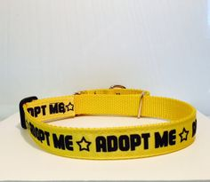 Adopt Me Collars For Rescue Groups by DogTiredDesign on Etsy, $14.99