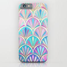 Glamorous Twenties Art Deco Pastel Pattern iPhone & iPod Case by Micklyn - $35.00