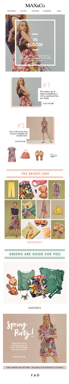 MAX&Co. Spring fashion inspired by Olivia Palermo's floral favourites