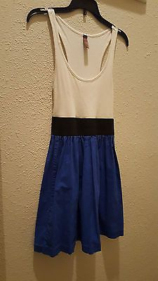 SZ SMALL DRESS FASHION SUMMER SPRING BLUE WHITE 4TH OF JULY POOLSIDE SEE PICS | eBay