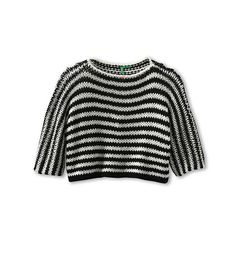 United Colors of Benetton Kids Girls' Short Cropped Knit Sweater (Little Kids/Big Kids)