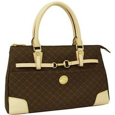 Rioni Signature Princess Satchel Handbag Purse - Brown -- Details can be  found by clicking on the image. 6d88ae8a06