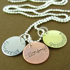 Doctor Who Allons-y Fantastic Geronimo Necklace - Hand Stamped Doctor Who Necklace. $24.00, via Etsy.