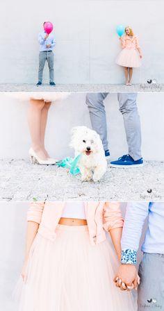 #pastel #engagement #photoshoot #engagementsession #pastellove #dog #baloons #couple #love #cityweddingsession #cityengagement #bajkowesluby #whitedog
