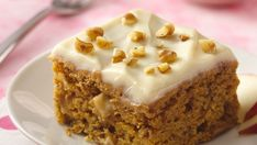Use a high-fiber muffin mix to make delicious and fiber-rich pumpkin dessert bars.