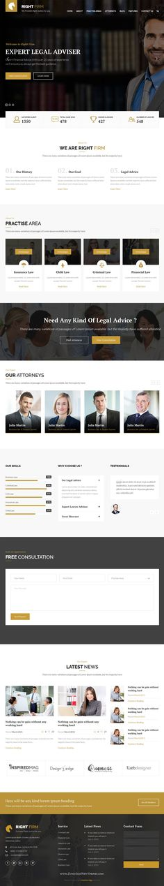 RIght firm is professional, modern Bootstrap HTML template for #lawfirm, lawyer, business and related to any #legal company #website. Download Now!