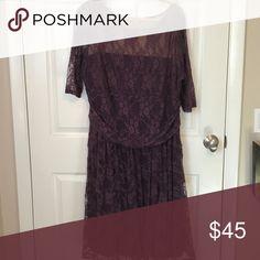 Kiyonna Special Occasion dress Plum/Purple Lace special occasion dress- only worn once! Kiyonna Dresses Long Sleeve