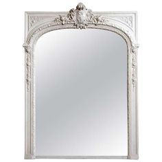 French Louis XIV Style Wood and Stucco Pier Glass - 19th Century | From a unique collection of antique and modern mantel mirrors and fireplace mirrors at https://www.1stdibs.com/furniture/mirrors/mantel-mirrors-fireplace-mirrors/