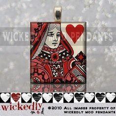 Queen of Hearts Scrabble Pendant