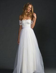 Here is a collection of the best off the shoulder wedding dresses that will make him fall in love with you all over again.