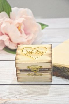 We Do wooden ring bearer box, personalized wedding ring box- Wedding Ring Box, Wedding Tips, Wedding Styles, Our Wedding, Dream Wedding, Personalised Box, Personalized Wedding, Ring Bearer Box, Ideias Diy