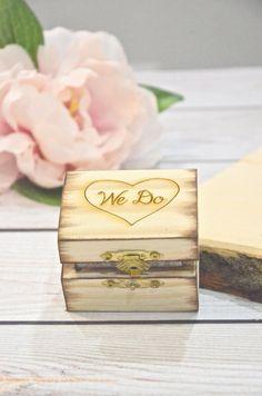 We Do rustic ring bearer box - rustic weddings