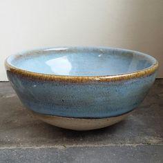 triskelpottery - Amaco potter's choice arctic blue over temmoku