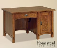 Amish Heirlooms Solid Maple Mini Computer Desk, by by White Linen. Slide out keyboard tray & computer tower storage; Country of Origin: United States. Dimensions: 31 x 48 x Walnut/Maple drawer box interior ; Craftsman Desks, Craftsman Furniture, Amish Furniture, Furniture Projects, Custom Furniture, Woodworking Desk Plans, Woodworking Shows, Woodworking Basics, Woodworking Furniture