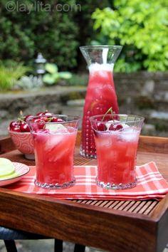 Receta para limonada de cerezas