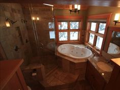 Tuscan style bathroom (from an awesome ski lodge in Canada)