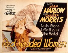 RED-HEADED WOMAN (1932) dir) Jack Conway, w) Jean Harlow, Chester Morris