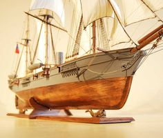 CSS Alabama Model Ship from Bow view.