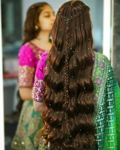 Pakistani Bridal Hairstyles, Indian Hairstyles, Bride Hairstyles, Beach Hairstyles, Easy Hairstyles For Long Hair, Pretty Hairstyles, Straight Hairstyles, Bridal Hair Buns, Front Hair Styles