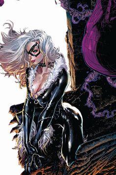 Black Cat by Phillip Tan Marvel Girls, Marvel Women, Comics Girls, Marvel Vs, Marvel Heroes, Comic Book Characters, Marvel Characters, Comic Character, Comic Books Art