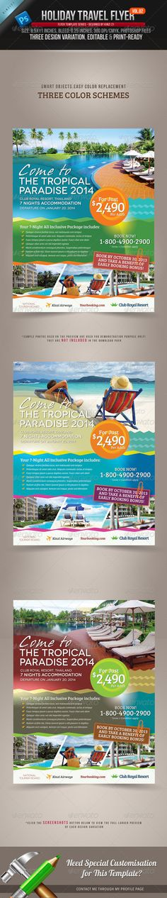 Tourism Flyer Vol1 Poster, Travel and Tourism - vacation brochure template