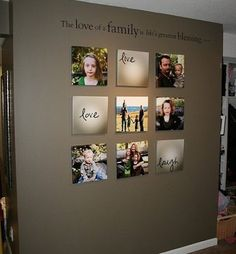 A family gallery wall put perfectly together with a classy touch! -------------------------- #gallery #wall #home #decor #design #picture #frames #framing #diy #tips #ideas