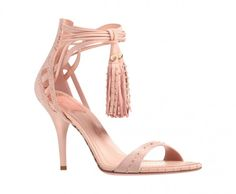 Dior sandals in smooth pink leather