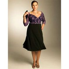 Very pretty formal almost off the shoulder -decollete plus size fashion