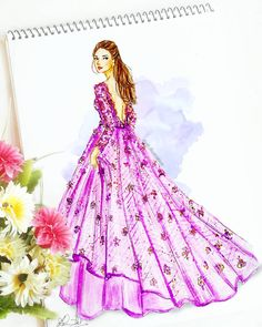 50 Ideas Fashion Illustration Watercolor Gowns Paintings For 2019 Dress Design Sketches, Fashion Design Sketchbook, Fashion Design Drawings, Fashion Sketches, Fashion Drawing Dresses, Fashion Illustration Dresses, Drawing Fashion, Fashion Illustrations, Fashion Moda
