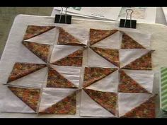 See How Perfect Half Square Triangles Are Made & Used to Create The Broken Dishes Quilt Block! 6 Videos Show How it's Done - Page 3 of 7 - Keeping u n Stitches Quilting 4 Patch Quilt, Quilt Blocks, Quilting Tips, Quilting Tutorials, Pattern Blocks, Block Patterns, Civil War Quilts, Old Sewing Machines, Queen Size Quilt