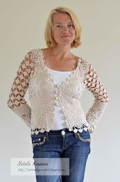 Crochet cardigan chart pattern