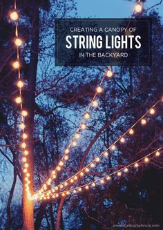 a canopy of string lights in our backyard - String Lights Patio Ideas