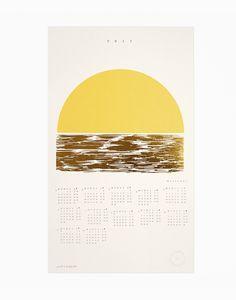 Gold Foil Golden Weekends calendar, Julia Kostreva