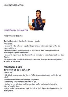 Secuencia didáctic San Martin Andreas, Acting, Education, Mayo, Socialism, Happy, Teaching Science, Welcome Back Letter, Third Grade