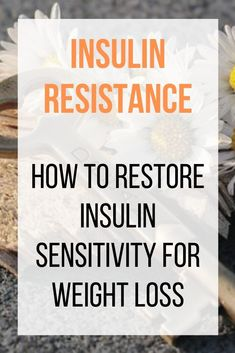 to restore insulin sensitivity for weight loss, the body needs to be given the opportunity to burn through and utilize all the excess glucose that is already in the body. A primary symptom of insulin resistance is weight gain and difficulty losing weight Losing Weight Tips, Weight Loss Goals, Weight Gain, How To Lose Weight Fast, Reduce Weight, Lost Weight, Weight Loss For Women, Lose Fat, Healthy Detox