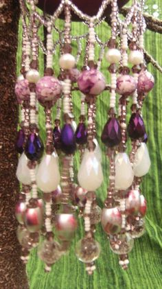 Silver and Purple Glow In The Dark Ornament by DustDevilTreasures, $60.00