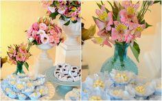Vasinhos decorados! Arranjos para festa