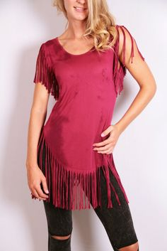 Unconquered Top - Maroon