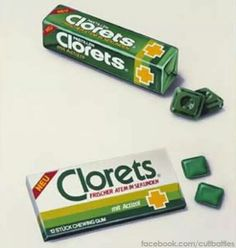 The best gum for onion breath. Clorets is a line of chewing gum and mints made by Cadbury Adams. It was introduced in Note: Loved this gum! My Childhood Memories, Sweet Memories, The Good Old Days, Those Were The Days, Nostalgia, Retro Candy, Retro Recipes, Oldies But Goodies, I Remember When