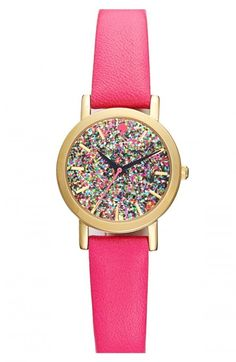 Kate Spade New York Metro Mini Glitter Dial Watch 24mm | Jewelry and Accessory