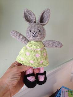 Ravelry: bunny girl in a dotty dress pattern by Little Cotton Rabbits.  Stinkin' cute!