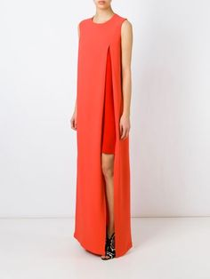 Gianluca Capannolo high slit layer dress