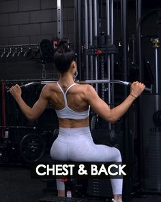 Cable Workout, Gym Workout Videos, Gym Workout For Beginners, Gym Workouts, Chest Workouts, Chest And Back Workout, Shoulder Workout, Body Transformation Workout, Back Exercises