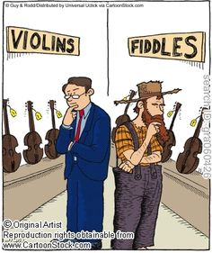 "I play fiddle and violin songs. But this is still hilarious. ""The Difference Between Violinists and Fiddlers,"" by Guy & Rodd Classical Music Humor, Orchestra Humor, Music Jokes, Music Humour, Funny Music, Violin Music, Cello, Music Music, Music Stuff"