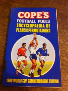 Cope's Football Pools. Encyclopaedia Of Plans & Permuations. 1966 World Cup Ed!