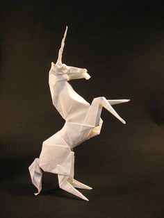 Origami Unicorn with instructions!